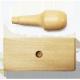 Sello con mango de madera de 4x10 cm.