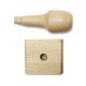 Sello personalizado con mango de madera de 5 x 5 cm.