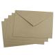 10 sobres rectangulares kraft