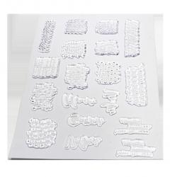 Plancha de sellos acrílicos